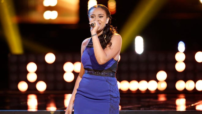 """THE VOICE -- """"Live Finals"""" Episode 818A -- Pictured: Koryn Hawthorne -- (Photo by: Tyler Golden/NBC)"""