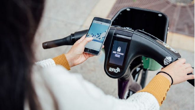 Ride sharing vendor B-Cycle's Memphis rollout is scheduled to include a new bike model, equipped with touch-screen GPS display.