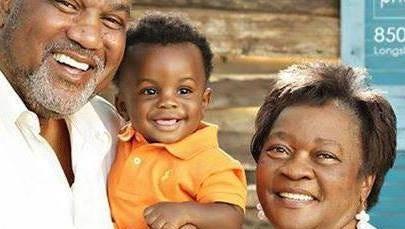 Carolyn Bullard with her husband, Joe Bullard, and their grandson.