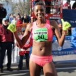 Diane Nukuri, after winning the Manchester Road Race on November 26.