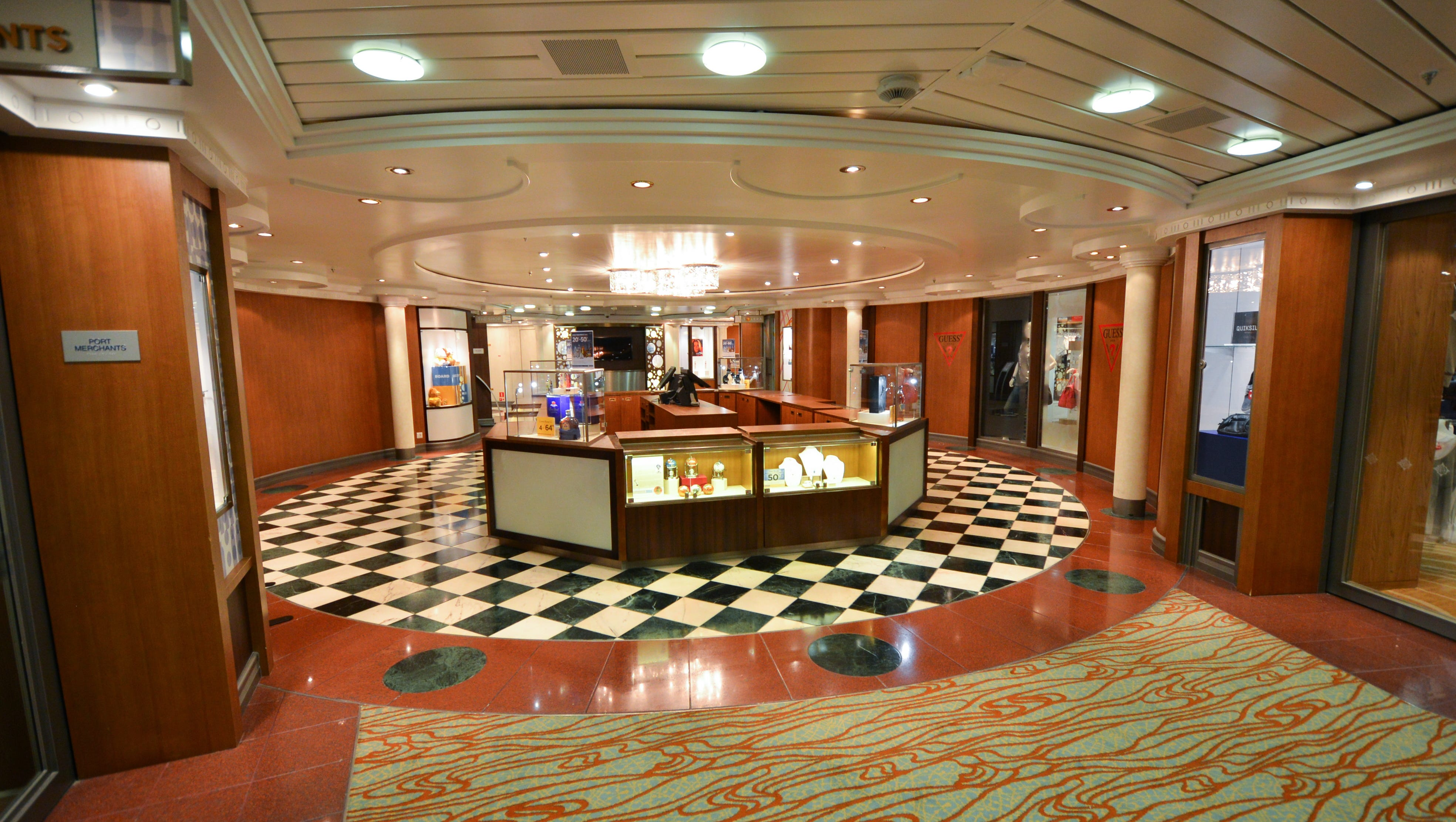 The Centrum Shops, just off the Centrum on Deck 6, offer everything from perfume and jewelry to liquor and cruisewear.