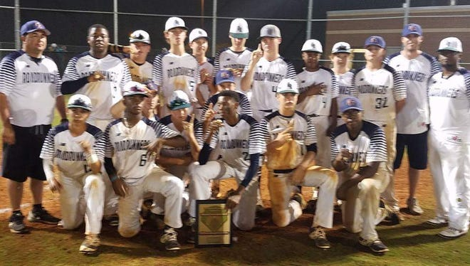 Three Smoky Mountain Conference middle school baseball players helped the Georgia Roadrunners 14 and under baseball team win last weekend's Triple Crown South Atlanta Open tournament in McDononough, Ga.