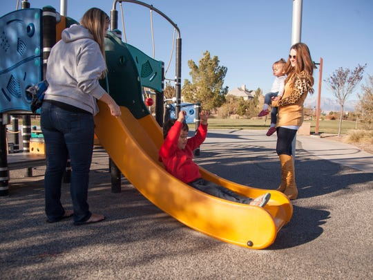 St. George residents enjoy one of the city parks in Little Valley Wednesday, Nov. 18, 2015. The Little Valley Complex is one of the areas that could benefit from RAP tax funds.