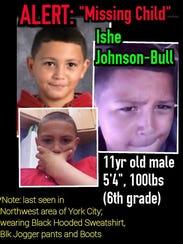 Ishe Rashan Johnson-Bull ran away from home and has