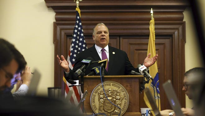 Senate President Stephen M. Sweeney wants an investigation of the New Jersey Education Association after reports that the union threatened to withhold campaign contributions unless a proposed constitutional amedment guaranteeing pension payments is placed on the November ballot.