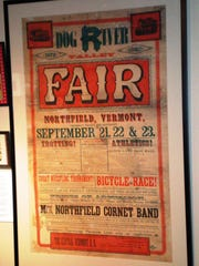 Dog River Valley Fair poster after restoration and framing.