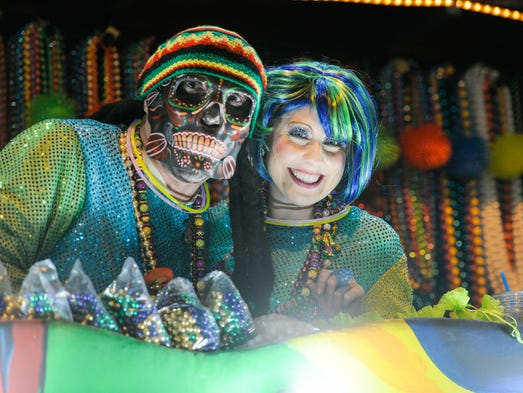 The Krewe of Carnivale en Rio Parade is known for colorful