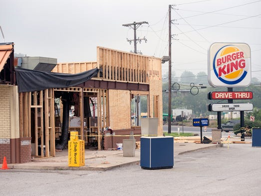 Burger King under construction in Springettsbury Township.