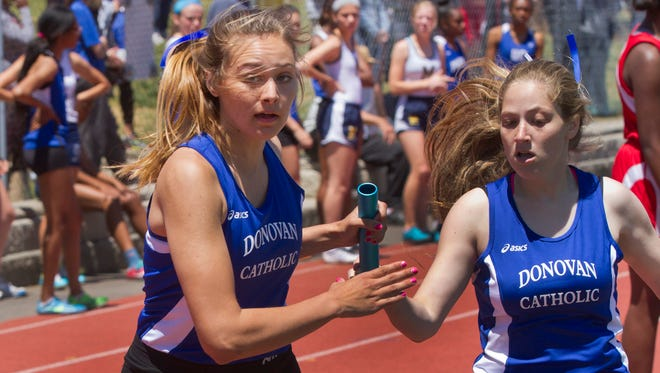 NJSIAA Non-Public A Track and Field Championships at Donovan High School in Toms River NJ on May 23, 2015. Peter Ackerman/Staff Photographer