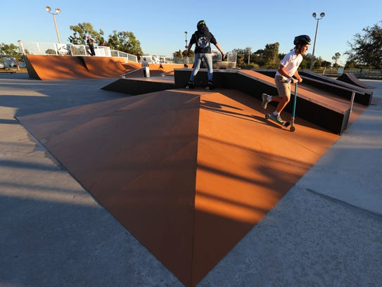 Eagle Skate Park recently re-opened after completing