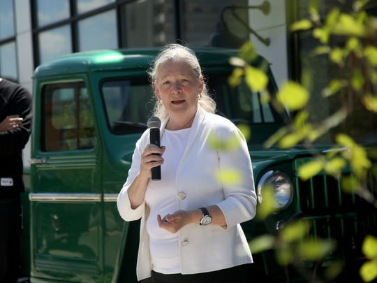 Sue Mosey, president of Midtown Detroit, Inc. , speaks