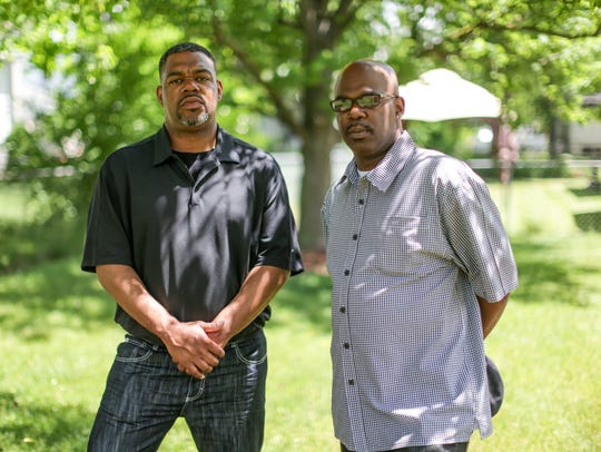 Shaun Moore, 44, of Auburn Hills, left, and his brother
