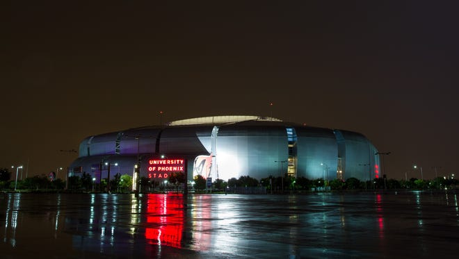 A view of University of Phoenix Stadium in Glendale. Arizona has never hosted a Final Four.
