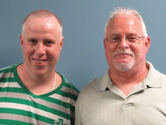 The Arc of Chemung's Richard Larkin, left, and Tom Harrigan, mobile work crew manager.