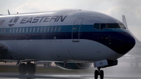 The 'new' Eastern Air Lines' first plane, a Boeing