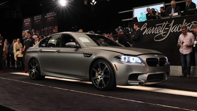 This BMW M5, one of only 300 produced worldwide, netted $700,000 for charity on Thursday.