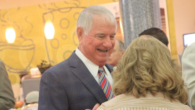 "FSU baseball coach Mike Martin was honored with the christening of ""The Mike Martin Family Playroom""."