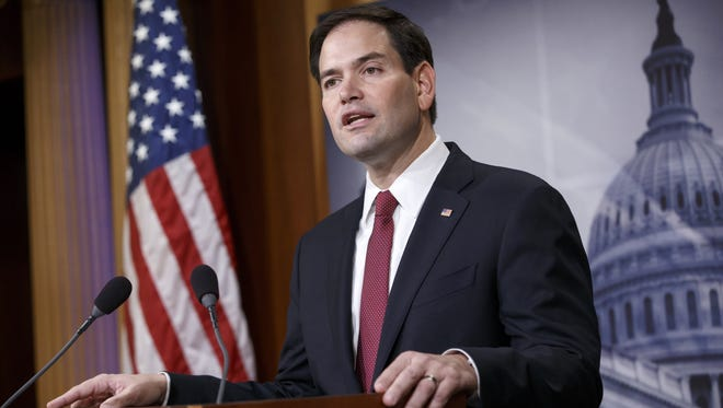 Florida Republican Sen. Marco Rubio has yet to decide if he'll run for president next year, but he dismissed suggestions Wednesday that governors have an advantage as White House candidates because of their executive experience.