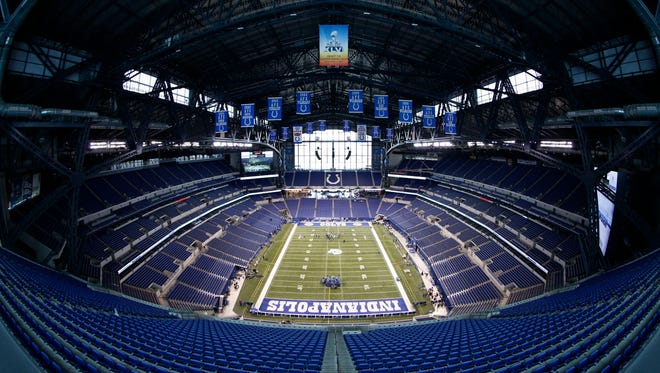 Lucas Oil Stadium is home to the annual NFL Scouting Combine, which starts today.