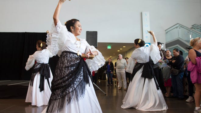 The Filipiniana Dance Troupe perform a cross cultural spanish-filipino dance during the La Gran Fiesta at the Scottsdale Center for the Performing Arts, Sunday, March 1, 2015, in Scottsdale, Ariz.