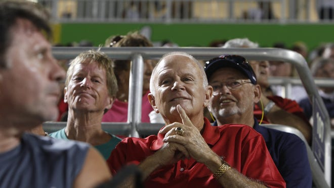 Fans flock to see the first spring training game between the Minnesota Twins and the Boston Red Sox at Hammond Stadium Thursday in Fort Myers. Minnesota won the game 9-8.