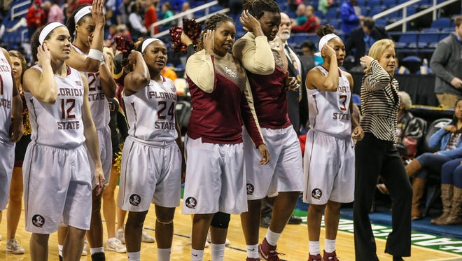 Florida State fell to Notre Dame Sunday, 71-58.