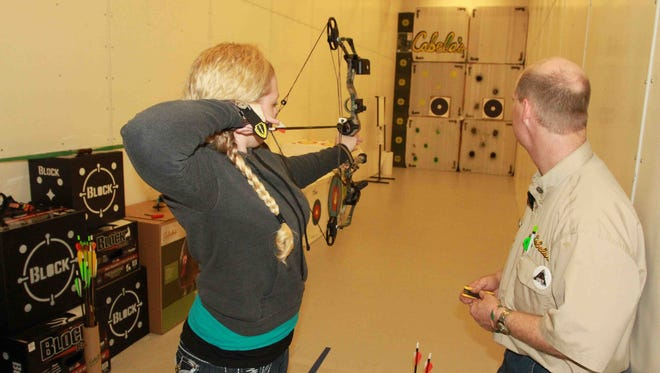 Cabela's in Glendale offers a host of free classes and demonstrations this spring to help make the most of the Arizona outdoors. The Archery Basics class teaches people how to shoot a bow and arrow.