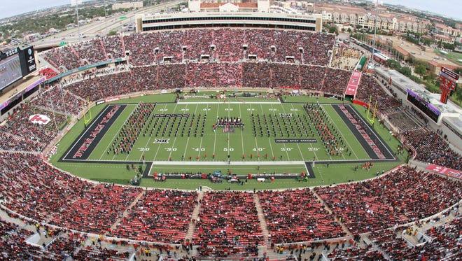 Jones AT&T Stadium in Lubbock, Texas.