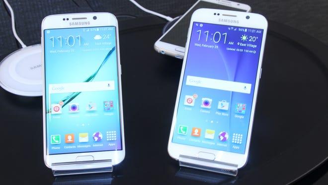 Samsung Galaxy S6 Edge and Galaxy S6.