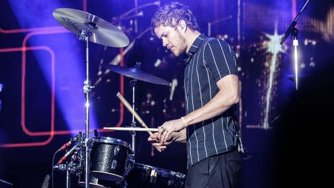 Dan Reynolds performs with Imagine Dragons at the March Madness Music Festival.