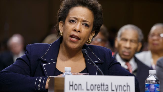 Loretta Lynch testifies Jan. 28 on Capitol Hill during her confirmation hearing.