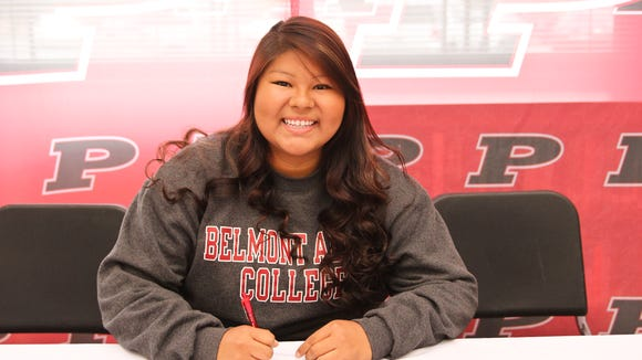 Pisgah senior Dee Sanchez has signed with the Belmont-Abbey track and field program.
