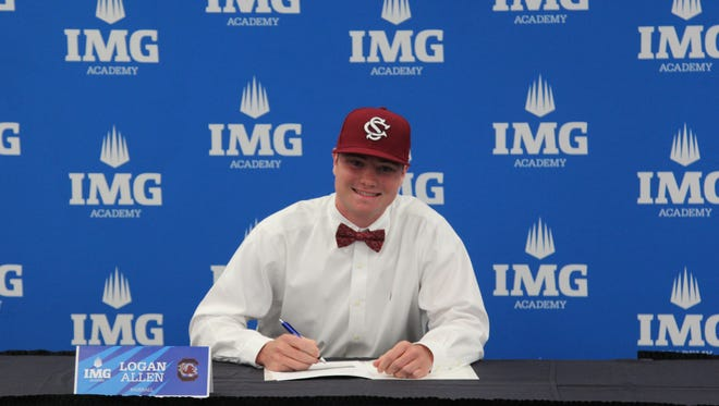 Fletcher's Logan Allen signed to play college baseball for South Carolina in November.