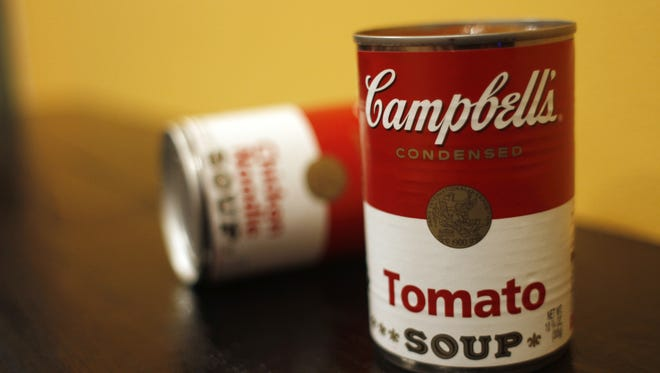 File: Two cans of Campbell's soup.