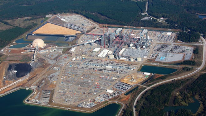 The Kemper County lignite gasification power plant site is nearly 3,000 acres. The nearly $5 billion plant is expected to be operational in 2016.