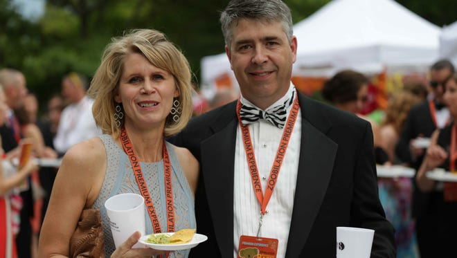 Greg and Alice Morical attend the Indianapolis Zoo's Zoobilation Boomerang Bash, Friday June 12th, 2015.
