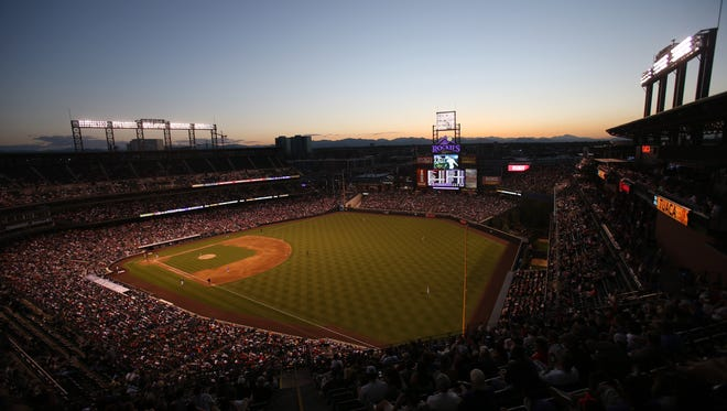 A view of Coors Field in Denver, home of the Colorado Rockies.
