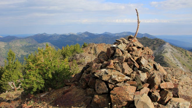 A view of Rock Creek Butte, tallest peak in the Elkhorn Mountains at 9,106 feet.
