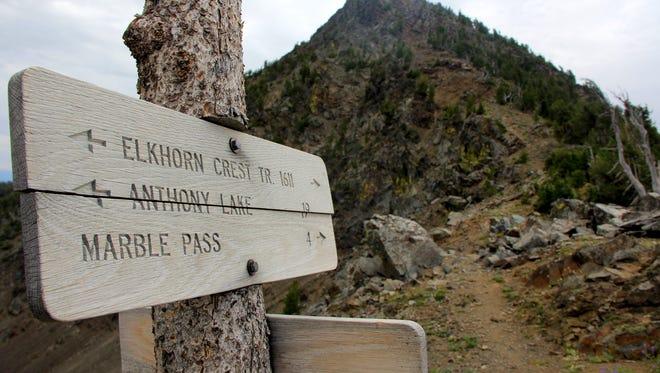 The Elkhorn Crest Trail tightropes across the Elkhorn  Range of Eastern Oregon near Baker City.