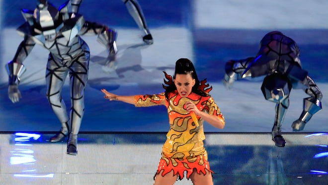 Katy Perry at the most recent Super Bowl.