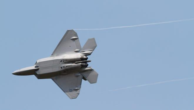 An Air Force F-22 Raptor in 2012.