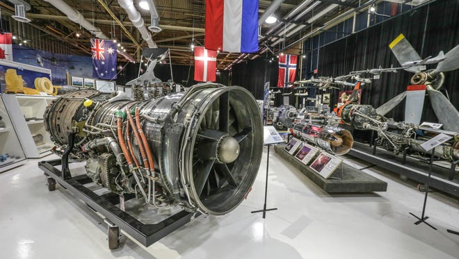 A Rolls-Royce Olympus 593 for the Concorde on display in the Rolls-Royce Allison Heritage Trust Exhibition Museum.
