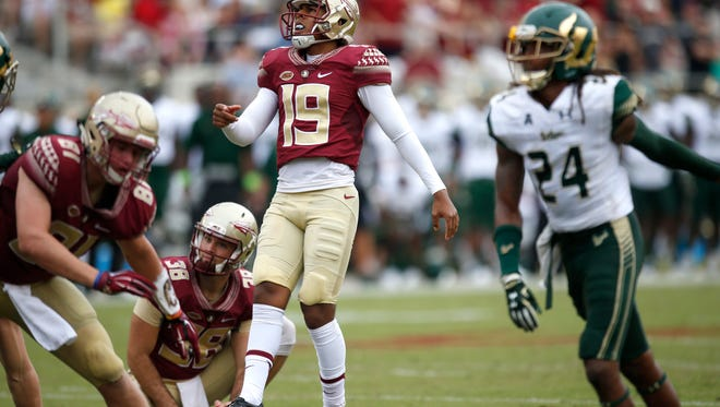 Roberto Aguayo set the ACC record on, kicking his 161st consecutive PAT Saturday against USF.