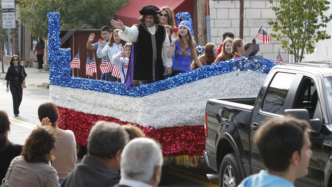 Christopher Columbus made an appearance at the 2013 Eastchester Columbus Day Parade.