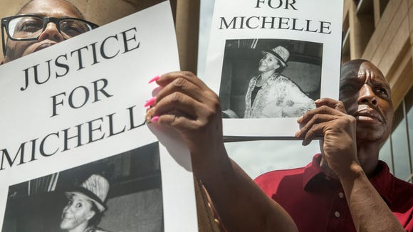 A protest last year over the death of Michelle Cusseaux.
