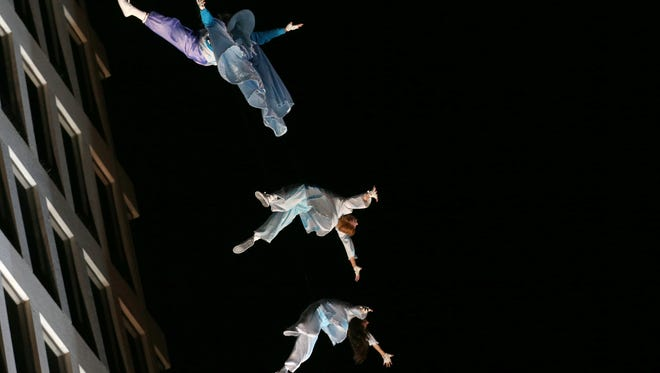 Grounded Aerial performed Friday night at the Rochester Fringe Festival.