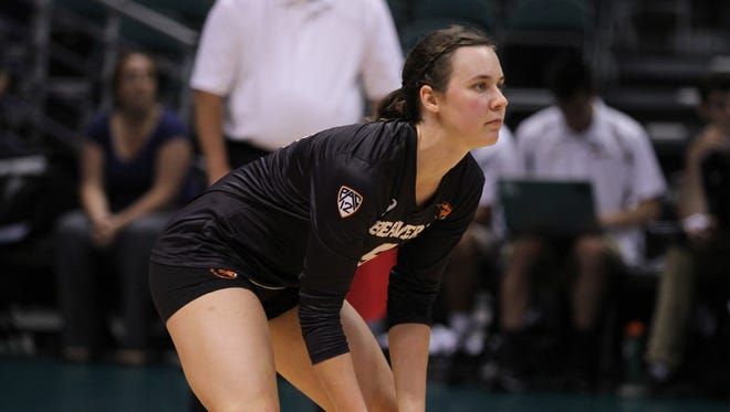 Oregon State libero Darby Reeder is a returning starter.