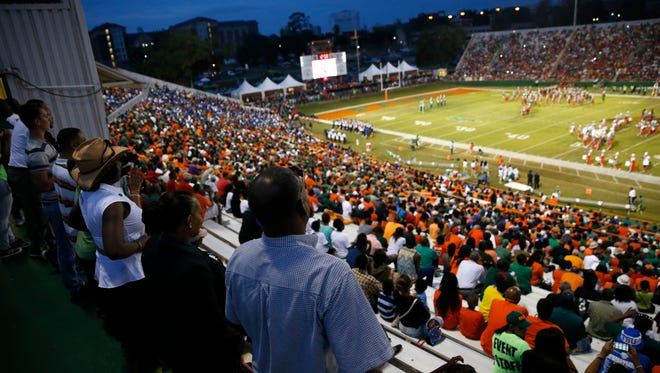 Bragg Memorial Stadium holds the first FAMU home game of the season against Tennessee State on Saturday, Sept. 26, 2015.