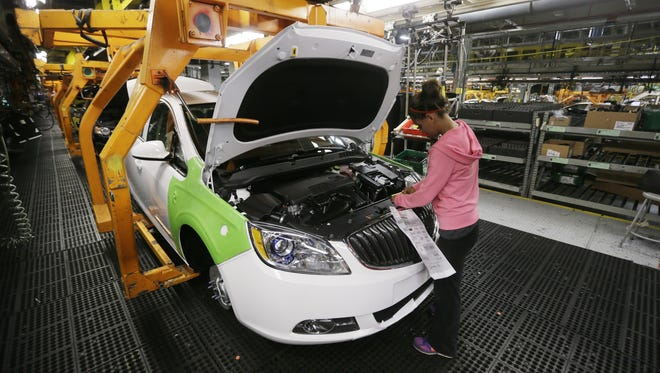A Buick Verano at General Motors Lake Orion Assembly plant.