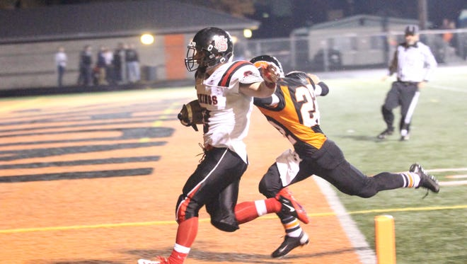 North Salem's football team played at Roseburg in the state play-in round in 2012.